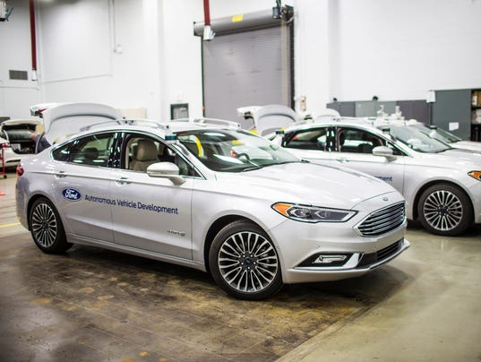 Self-driving Ford Fusion Hybrid test fleet