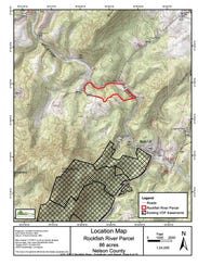 Rockfish River land swap location in Nelson County.