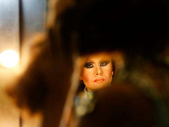 Trinity Taylor  gets ready to perform in the LaBoy LeFemme Legends reunion drag show at The Connection. It will be the last New Year's Eve party at the clubs current location. 