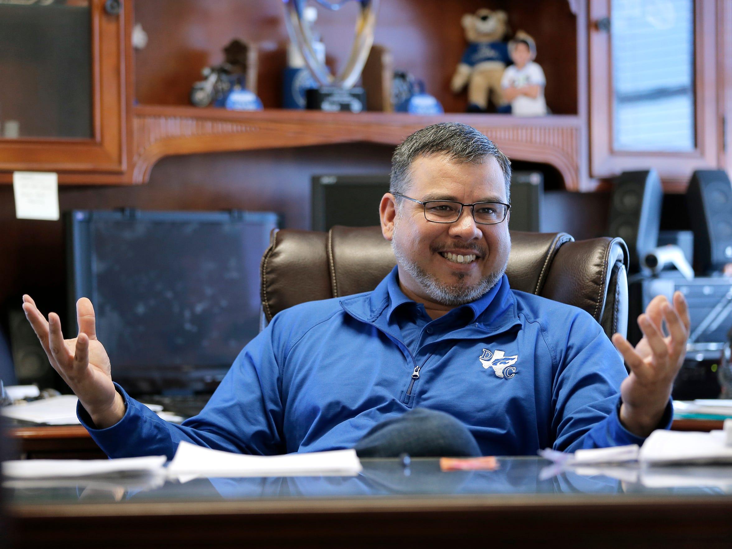 Dell City School Superintendent Fabian Gomez says he's