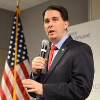 Gov. Scott Walker speaks about Project SEARCH during a stop at St. Vincent Hospital on Feb. 24 in Green Bay.