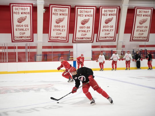 The Red Wings have their own practice rink at Little