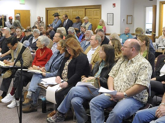More than 20 people spoke in opposition to Desert Wells Preserve during Thursday's meeting.