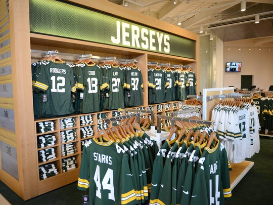 The Packers Pro Shop at Lambeau Field.