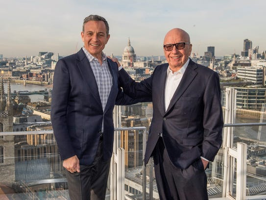 Disney CEO Robert Iger and Executive Chairman of 21st
