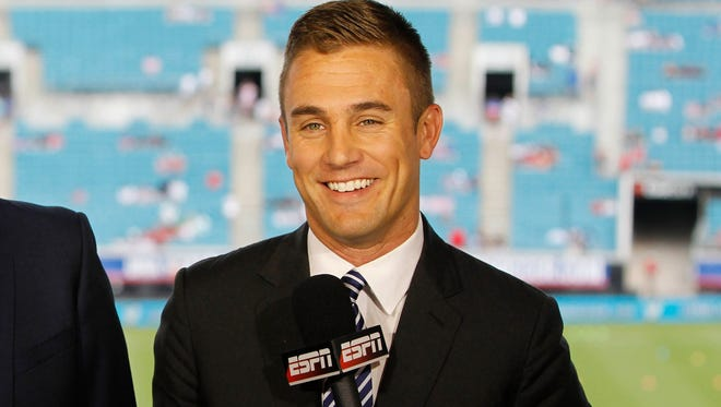Taylor Twellman before the game between the United States and Nigeria at EverBank Field on June 7.
