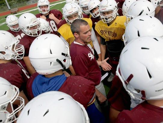 South Kitsap High School head football coach Cory Vartanian