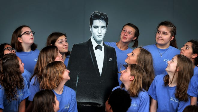 Kids from the Greenbay Girls Choir sing a medley of Elvis songs during a trip to Graceland on Friday, June 23, 2017. Graceland has gone through a significant realignment in the last year with the addition of a 200,000-square-foot multipurpose museum complex across the street from the mansion.