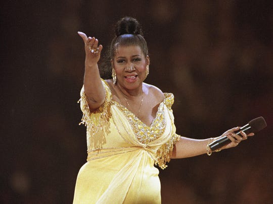 Aretha Franklin memorabilia is on display at the Detroit Historical Museum.