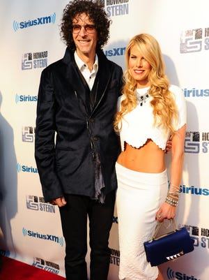 Howard Stern and wife, Beth Ostrosky, attend  'Howard Stern's Birthday Bash' presented by SiriusXM, at Hammerstein Ballroom on Jan. 31 in New York City.