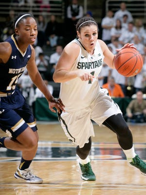 Tori Jankoska, right, and Michigan State are ranked No. 19 in this week's women's Associated Press Top 25.