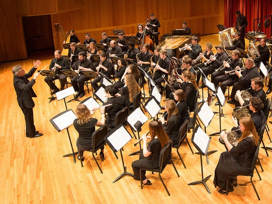 The University of Louisville's Wind Ensemble led by Frederick Speck in 2013.