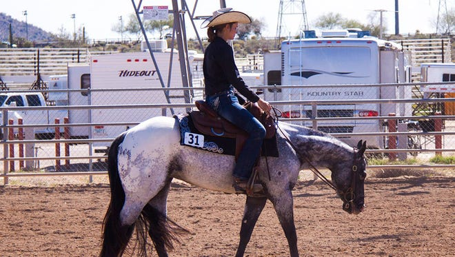 During Pony of the Americas competitions, children do western or English-style riding.
