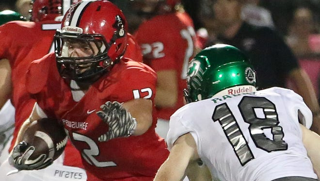 Pewaukee's Seth Bickett enjoyed four productive years with the Pirates football team. He finished his career with some top accolades from the Woodland Conference.