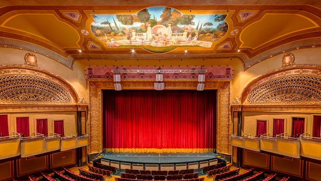 The Powers Theater was renovated in 2008 to better resemble the original Keeney Theatre when it opened in 1925 as a vaudeville and silent movie house.
