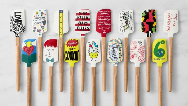 Several celebrities have designed special spatulas for Williams-Sonoma to support the No Kid Hungry organization.