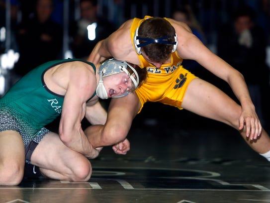 Raritan's Russell Benson vs. Delaware Valley's Tommy