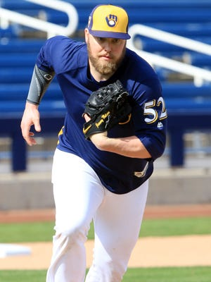 Jimmy Nelson could bolster the rotation later in the year if he returns to form after shoulder surgery.