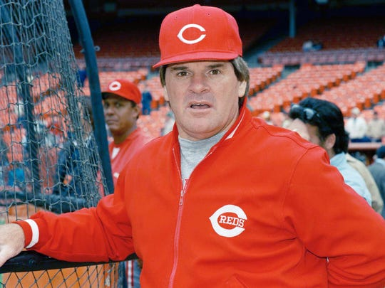 Pete Rose is seen in 1988, location unknown.