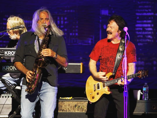 The Doobie Brothers perform Saturday, May 14, 2016, at the Ak-Chin Pavilion in Phoenix, Ariz.