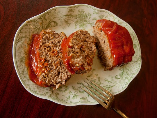 Meatloaf is one of the specialties served at the home-style cooking Cafe 157 on Main Street in New Albany, Indiana.