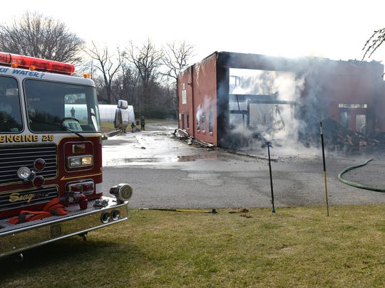 Fire at Laicha's Nursery, 545 Zinn's Mill Road in South Lebanon Township on Saturday afternoon, March 5, 2016.