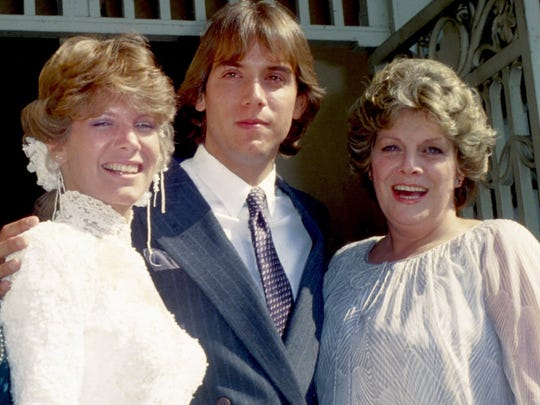 Debby Boone  wedding photo in 1979 with husband Gabriel