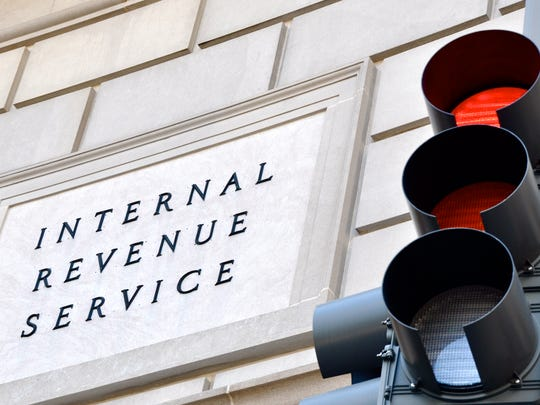 Internal Revenue Service sign.