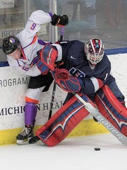 The Phantoms' Max Ellis (left) gets tangled up with