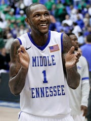 Forward LaRon Dendy was a key piece of MTSU's 2011-12 team.