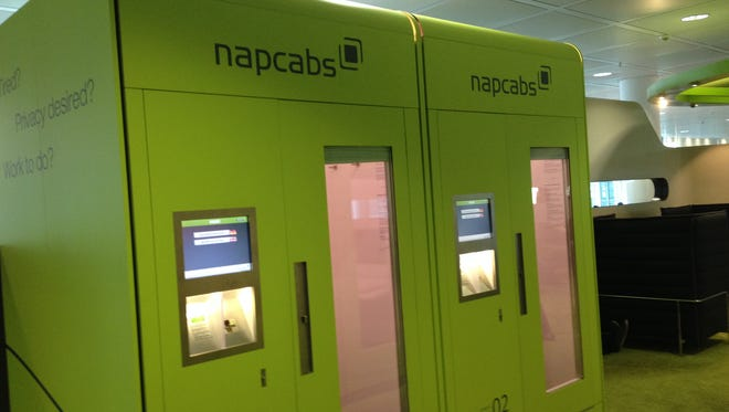 Nap-Cabs at the Munich Airport are a bright idea for the exhausted.