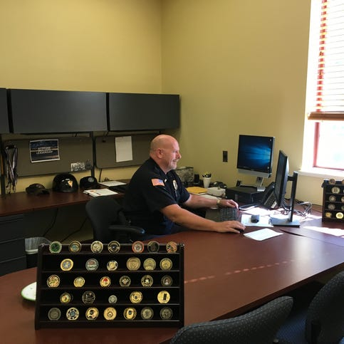 Pewaukee Police Lt. Mark Garry returns to work after 11-month recovery from a motorcycle accident