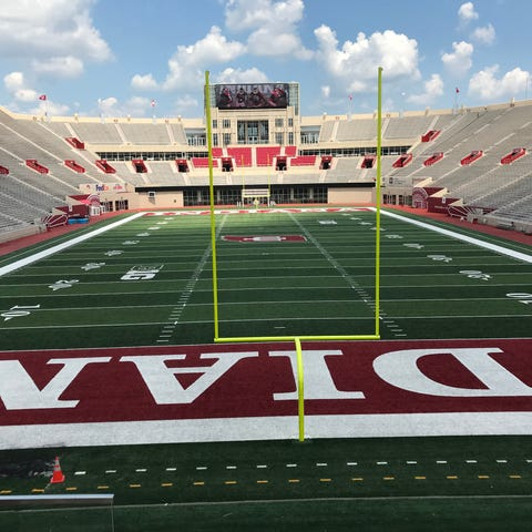 A view of the Memorial Stadium field from the Ed...