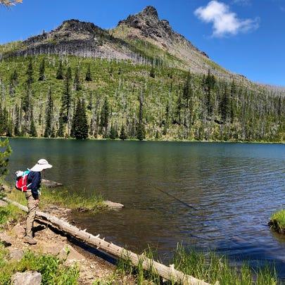 Duffy Lake is in the Mt. Jefferson wilderness.