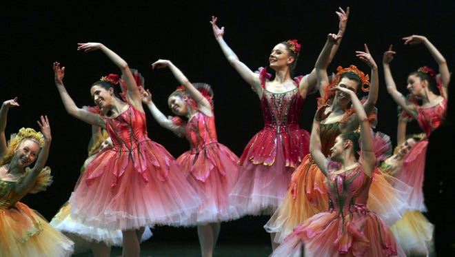 """The Louisville Ballet performs the """"Waltz of the Flowers"""" from """"The Nutcracker"""" at the Fund for the Arts 2013 campaign kickoff."""