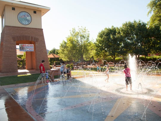 The St. George Splash Pad is one of the best places to cool off in town during the summer.