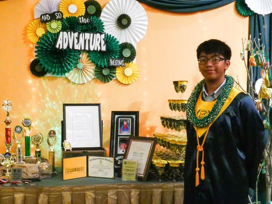 Joshua K. Amparo Cepeda, of Dededo, the only National Merit Scholar from Guam's public-school system in 2018, graduated from John F. Kennedy High School on June 9. Joshua is a recipient of the SAME Charlie Corn Scholarship, awarded by the Society of American Military Engineers, Guam Post.  He is the son of Derek and Geri Cepeda, and the grandson of Florida Amparo of Dededo and the late Juan and Elizabeth Cepeda of Fairfield, California.  Joshua will attend the University of Notre Dame in South Bend, Indiana this fall, as a Trustey Family Scholar. He plans on studying computer engineering and computer science.
