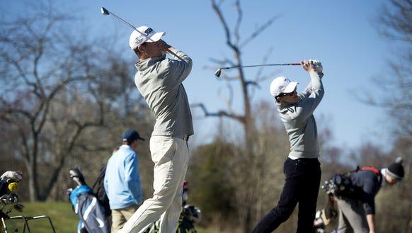 Roberson golfers Matt Sharpstene, left, and Fletcher