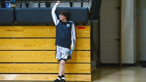 Robbinsville High School junior wrestler Jamie Kirl