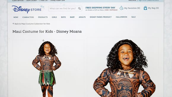 This screengrab shows the DisneyStore.com website's