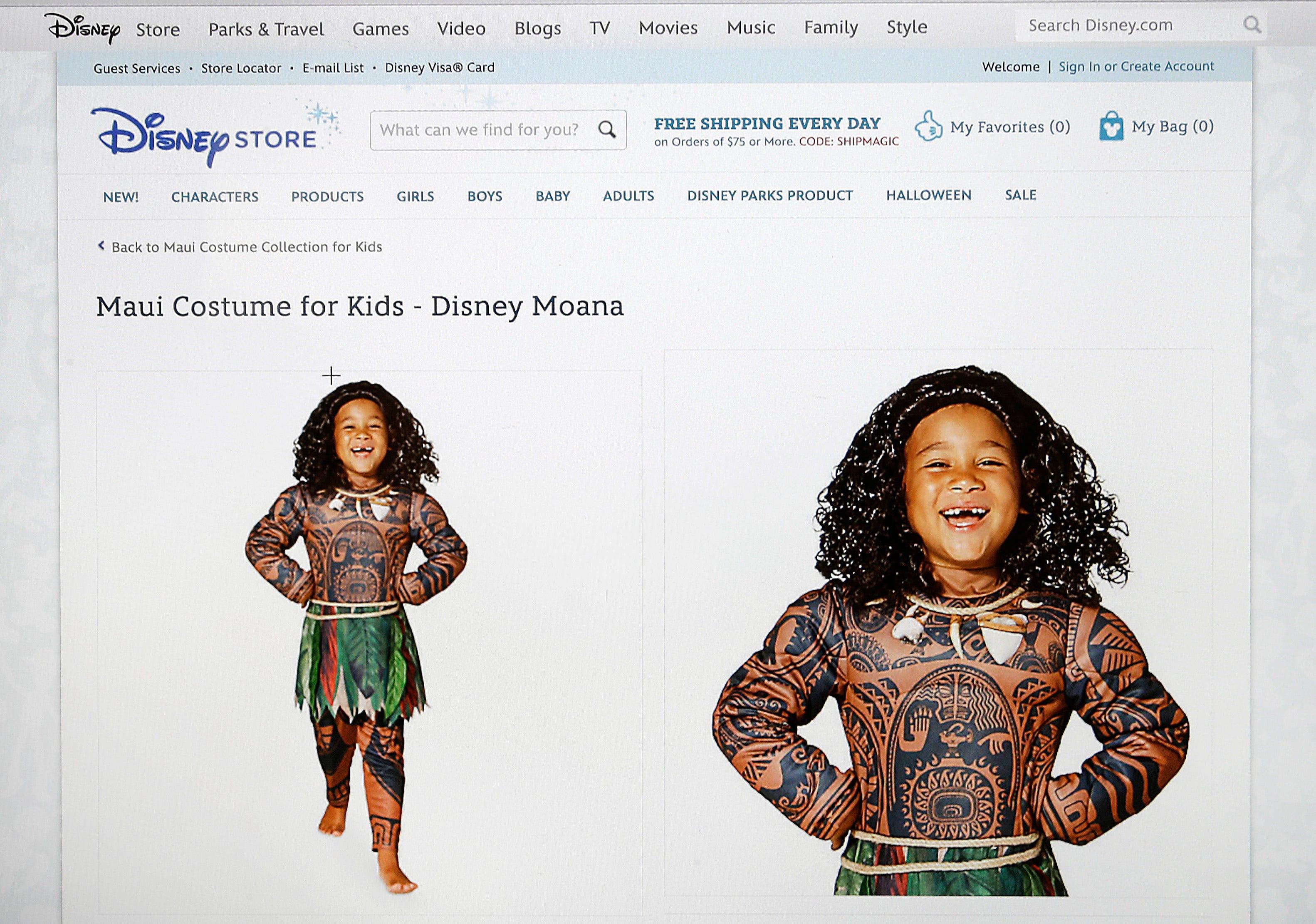 sc 1 st  USA Today & Disney pulls offensive u0027Moanau0027 Halloween costume