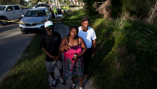 Luetricia Becker and her brothers Edward and Kenneth Freeman live near the City of Fort Myers' sludge site on South Street. They grew up playing in the orange goo on the city property, not knowing what it was or that it contained arsenic. They, like all the residents around them want to see the site cleaned up.