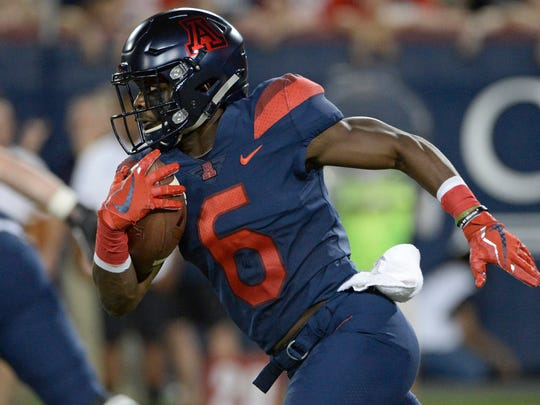 Arizona Wildcats wide receiver Shun Brown (6) runs