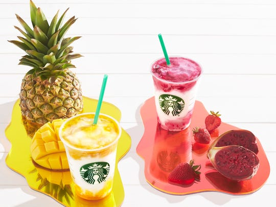 """As part of its """"Colors of Summer"""" promotion, Starbucks"""