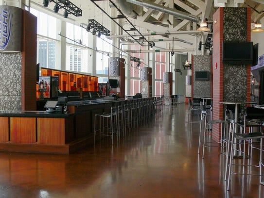 Goal Bar inside the Prudential Center.