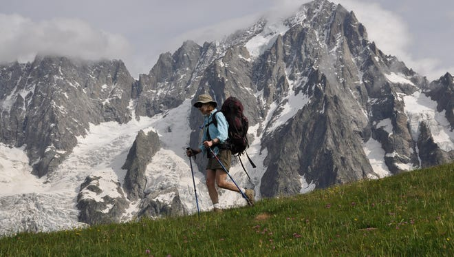 Spokane rheumatologist Meredith Heick practices what she preaches about lowering impact to leg joints by packing trekking poles to Europe for her 110-mile hiking vacation around Mont Blanc.