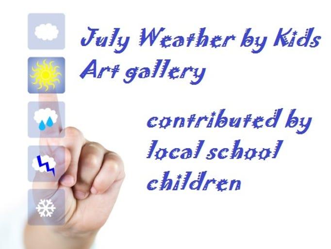 Local school children predict and illustrate the weather
