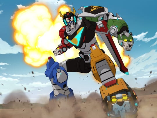 "The central giant robot of ""Voltron: Legendary Defender"""