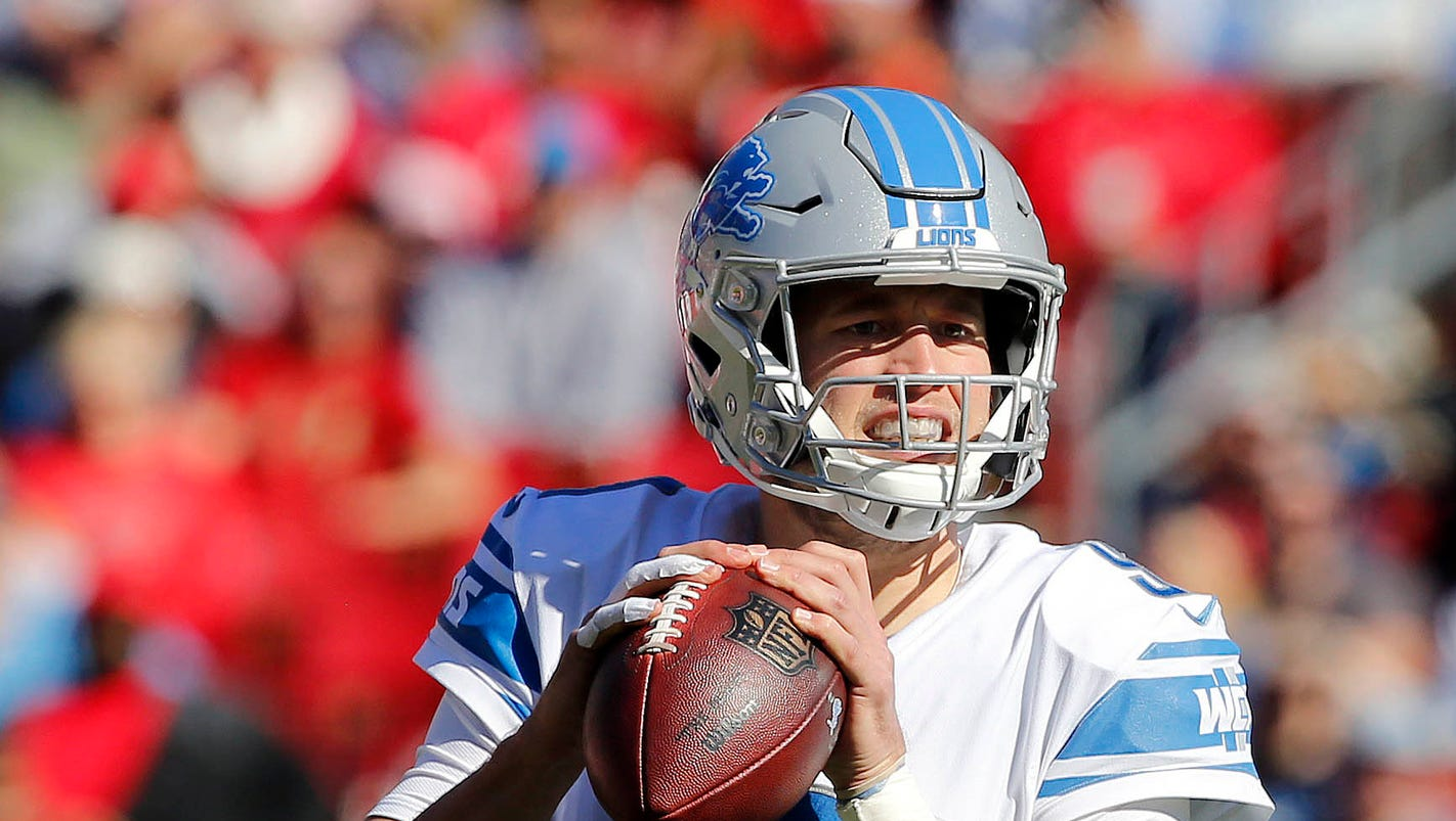Detroit Lions need to ride Matthew Stafford's arm, bag running game