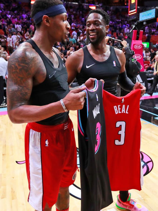 low priced 09cb7 6a806 3, thanking 3: Bradley Beal calls Dwyane Wade an 'idol'